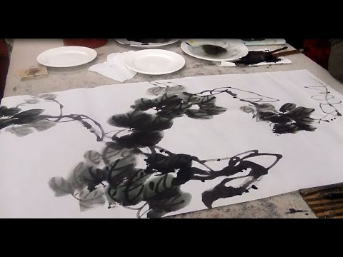 How to Painting Grape Leaves - Chinese Painting