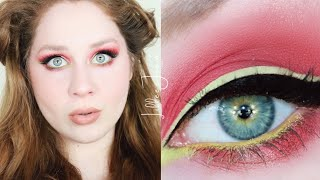 Makeup Revolution Red Alert and Green Liner DRUGSTORE Makeup Tutorial 2021 | Lillee Jean