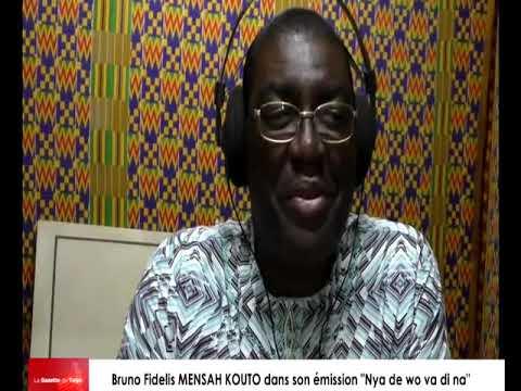 Bruno Fidelis MENSAH KOUTO dans son émission « Nya de wo di na »