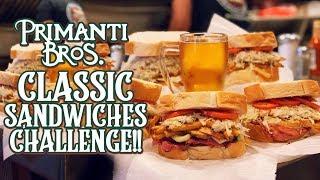 Primanti Brothers Classic Sandwich Challenge Man vs Food Pittsburgh!!