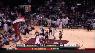 Texas A&M - Ray Turner Slam Dunk vs South Carolina