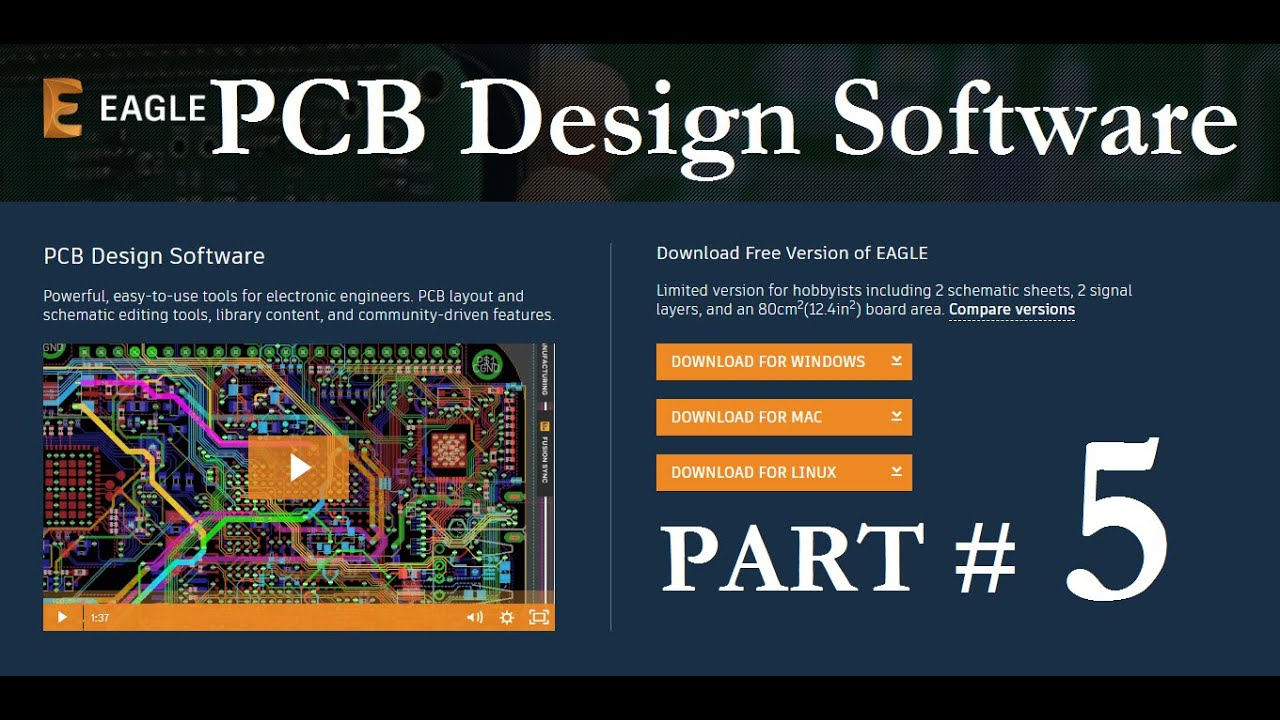 How To Make Circuit In Eagle Pcb Design Software Youtube