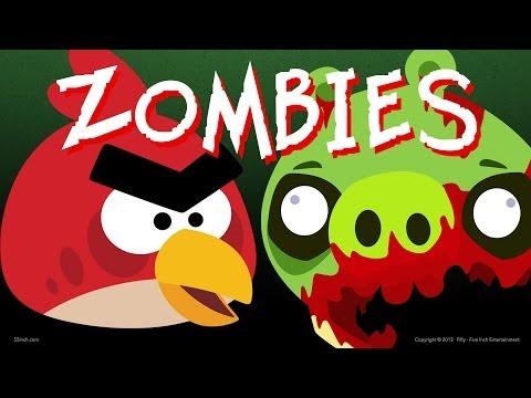 Мультфильм энгри бердз зомби