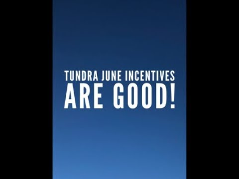 June Incentives On The 2019 Toyota Tundra Are Good!