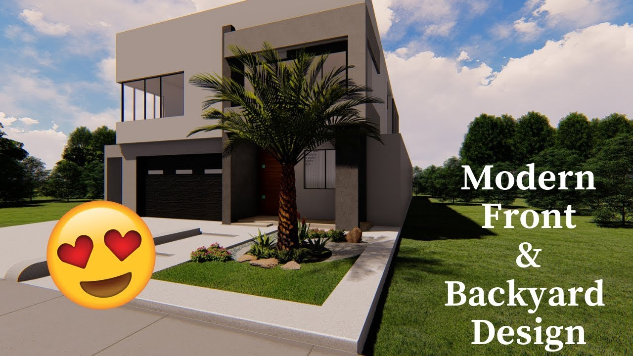 Modern Landscape Design Front Backyard Youtube