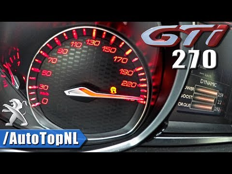 Peugeot 308 GTi 2018 ACCELERATION on AUTOBAHN by AutoTopNL
