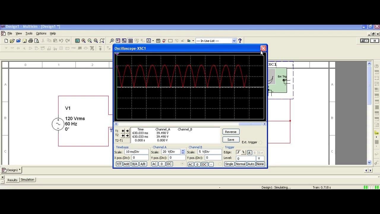 3 1 Center Tapped Rectifier Circuit Multisim 120 Kv Fullwave Multiplier