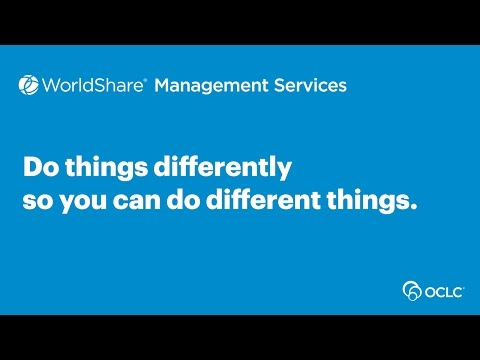 OCLC WMS: Doing things differently