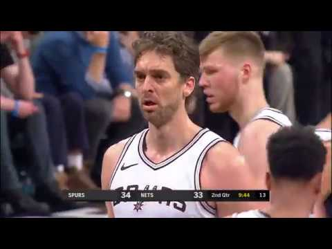 Pau Gasol vs Brooklyn Nets (17 - 1 - 2018)