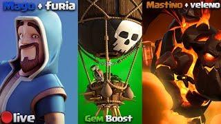 GEM BOOST + COMPLETO TUTTI I *NUOVI* EVENTI - Made in Youtube - clash of clans
