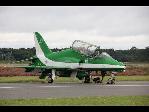 Saudi Hawks BAE Hawk Jet Team Formation Flying HD