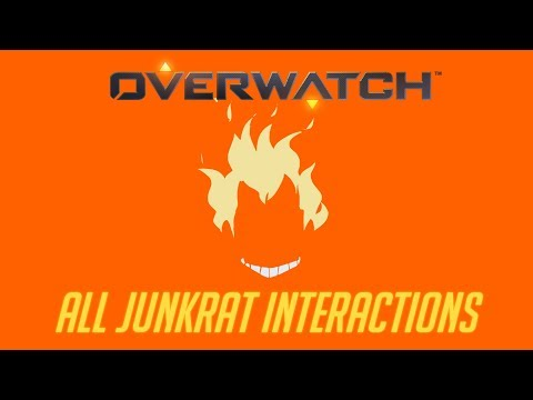 Overwatch - All Junkrat Interactions V2 + Unique Kill Quotes