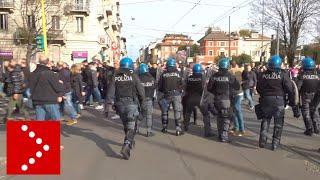 Tifosi Eintracht invadono a Milano: massiccio schieramento polizia, tensione