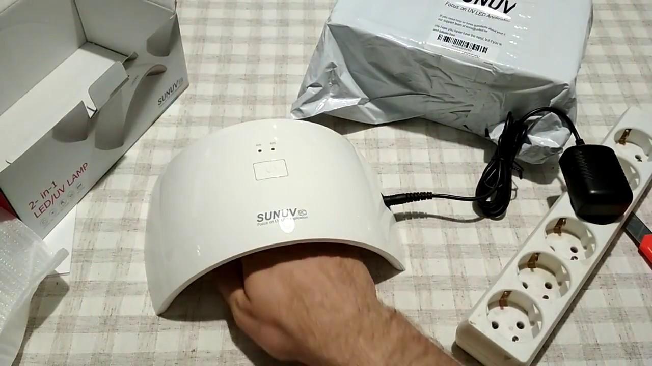 Обзор лед уф лампы SUN 5X на 48вт для сушки гель лака,геля с .