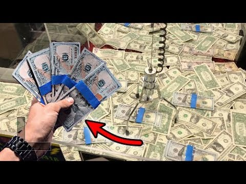WON $5,000 FROM MONEY CLAW MACHINE! | JOYSTICK