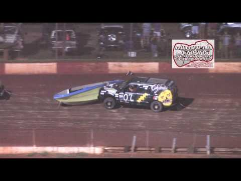 Dixie Speedway 8/15/15 Waterless Boat Race!