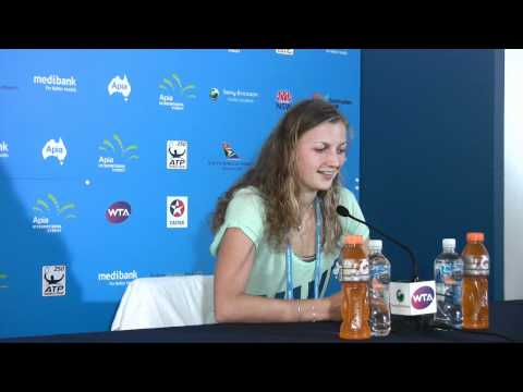 Petra Kvitova press conference: Apia International Sydney 2012