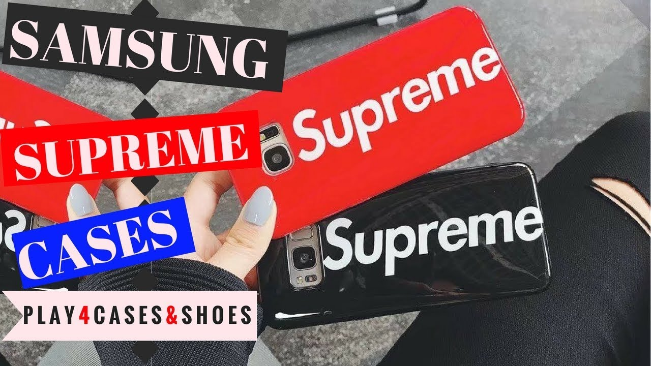 los angeles 54c57 2c2e4 Hot Cool Supreme Logo Case Cover For Samsung S8 S8+ S9 S9+ Note 8
