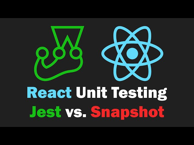 React Unit Testing Crash Course - Jest and React Testing Library