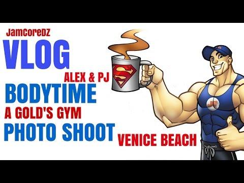 JamCoreDz Vlogz : Bodytime ( Alex & PJ) a Gold's Gym I Photo Shoot