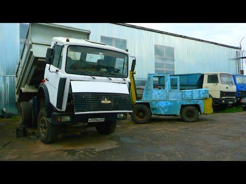 90-Д.Ремонт МАЗ-5551.Замена воздушных шлангов.Дождь,короткий день