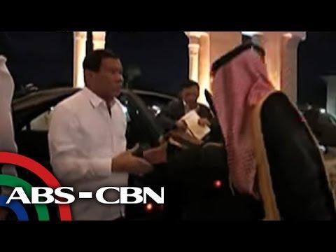 Duterte at hari ng Saudi Arabia, nagkaharap na