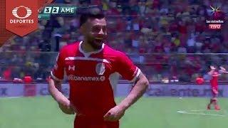 Doblete de Canelo | Toluca 3 - 2 América | Clausura 2019 - Jornada 15 | Televisa Deportes