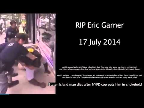 Eric Garner RIP Police brutality must end: police kills a black man for no reason on Staten Island.