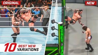 WWE 2K19 Top 10 New Moves Variations (Animations) #8