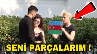 AZERBAYCAN BAYRAĞI YAKMAK SOSYAL DENEY