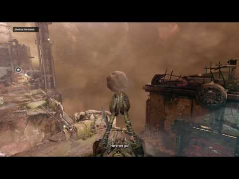 Gears of War 4 - Act lV 4-5 Storm Warning: Destroy Turret with Siegebeast, Vault Kick Chainsaw Dual