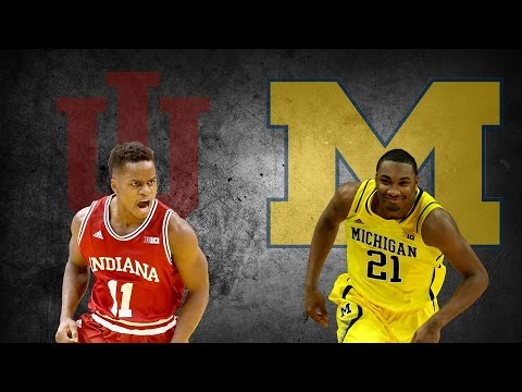 Indiana Hoosiers - Michigan Wolverines (2016.03.11)