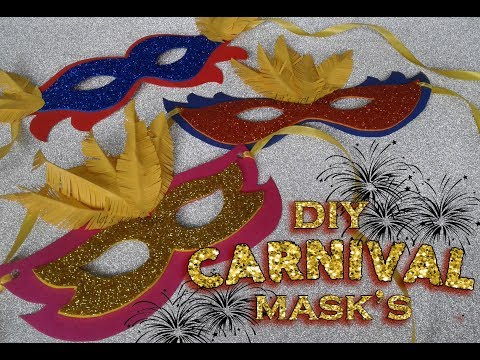 Easy make it yourself , Carnival Masks for Kids