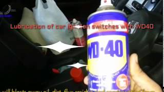 Lubrication of car ignition switch using WD40 thumbnail