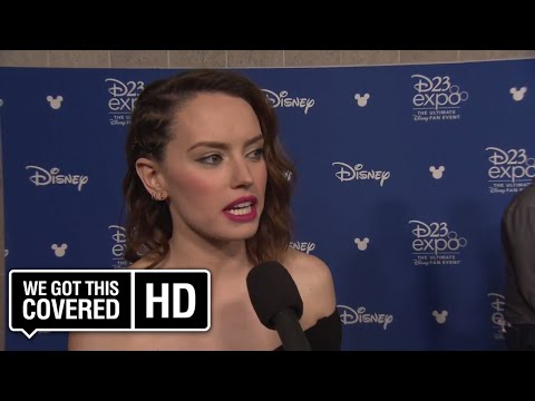 INTERVIEW: Daisy Ridley Talks STAR WARS: THE LAST JEDI At D23 [HD]