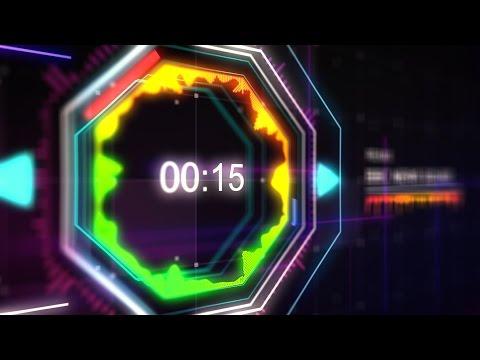 Countdown Timer 1 min (v 507) News Theme Equalizer Remix2 - Music Visualizer + sound effects 4k