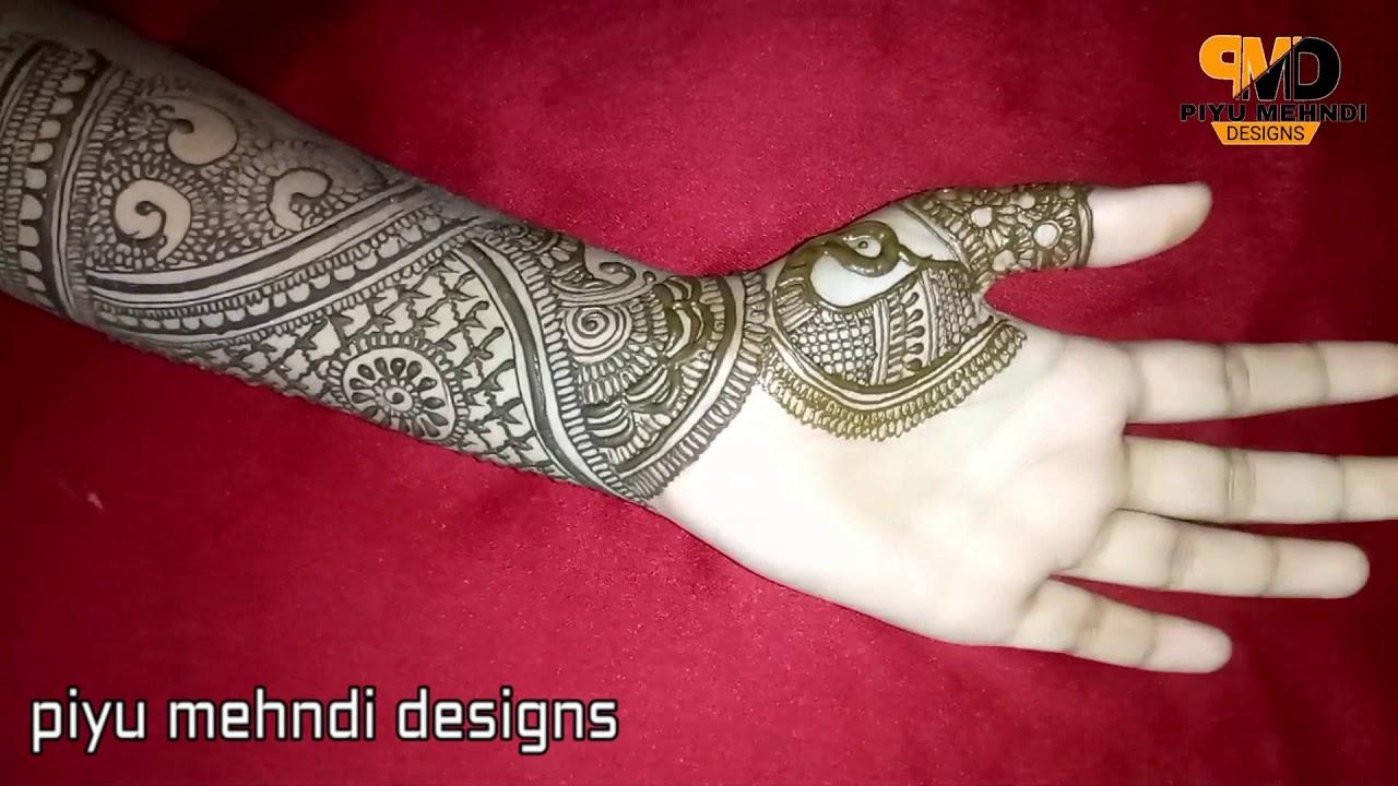 new mehndi design front side