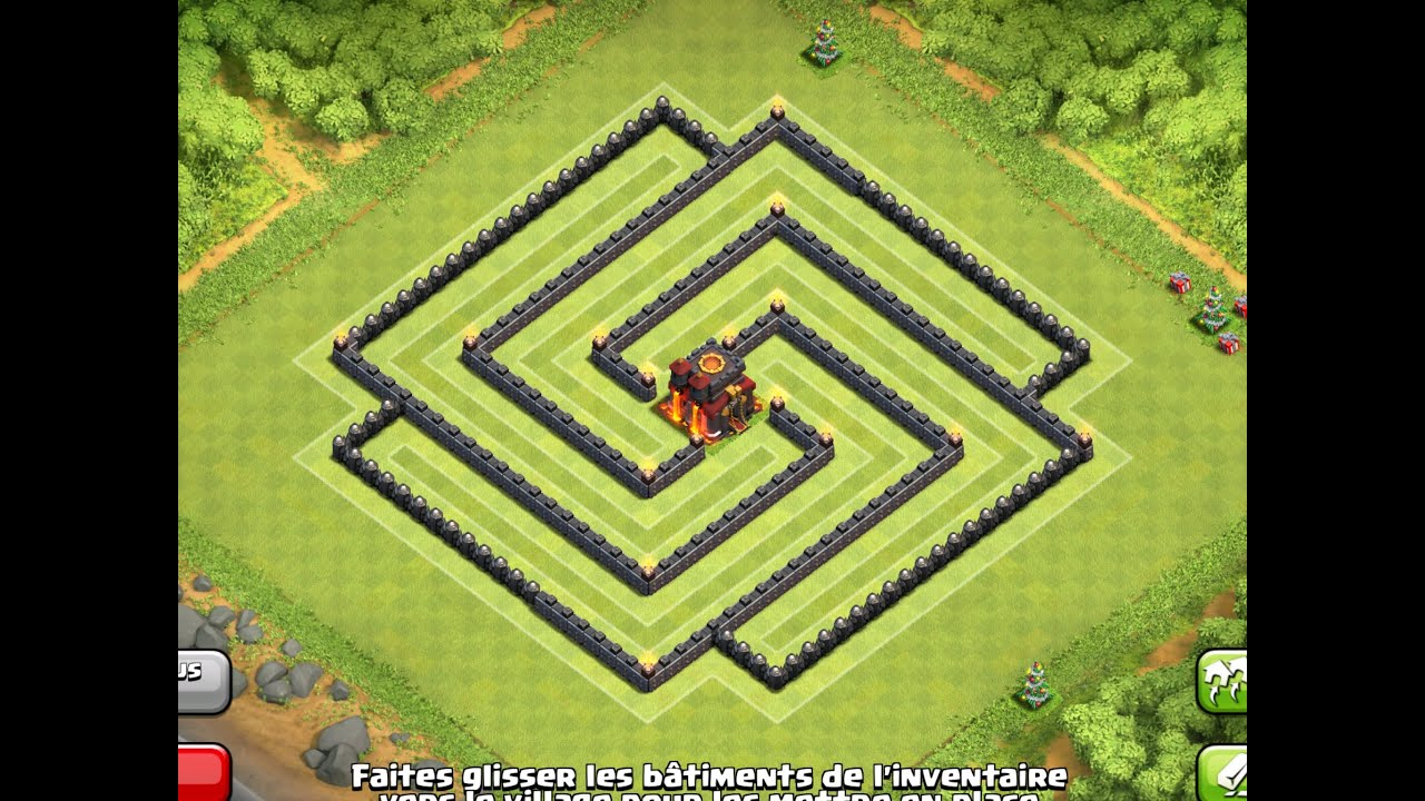 Epic town hall 8 th8 trophy clan war base clash of clans youtube