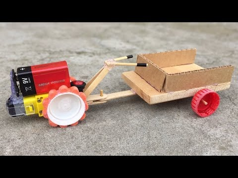 Download Youtube: How to Make Electric Two Wheeled Tractor with Trailer