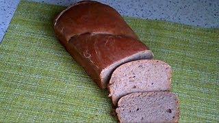 Хлеб из цельнозерновой муки на заквасках.