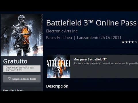 Como jugar Online Battlefield 3 PS3 // Online Pass Gratis // Tutorial