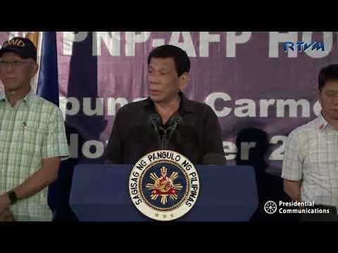 President Duterte Endorse Jun Evasco for Governor in Bohol