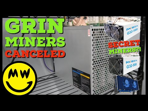 Grin ASIC Miners Canceled?! Innosilicon SECRETLY MINING With G32 Grincoin Miners?!