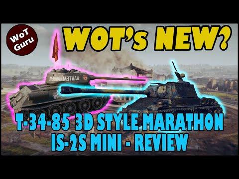 WoT's New? T-34-85 3d Style Marathon | Update 1.9.1 News | & More!