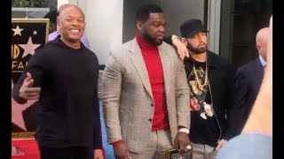 Eminem Pulls Up On 50 Cent & Dr. Dre At Hollywood Walk Of Fame Ceremony