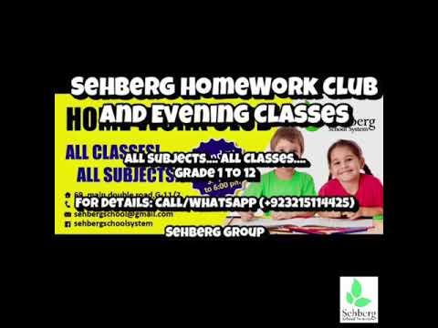 HomeWork Club and Evening Classes