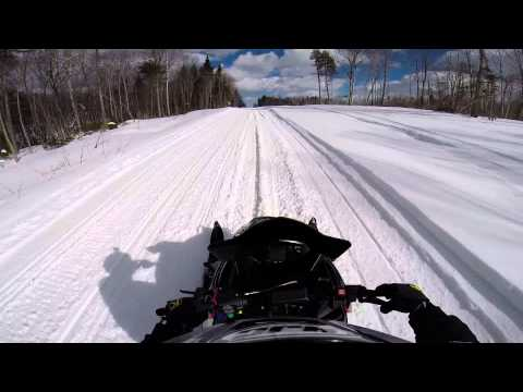Maine Snowmobiling 2014