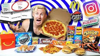 I LET MY INSTAGRAM FOLLOWERS PICK MY FOOD CHALLENGE! (12,000+ CALORIES)