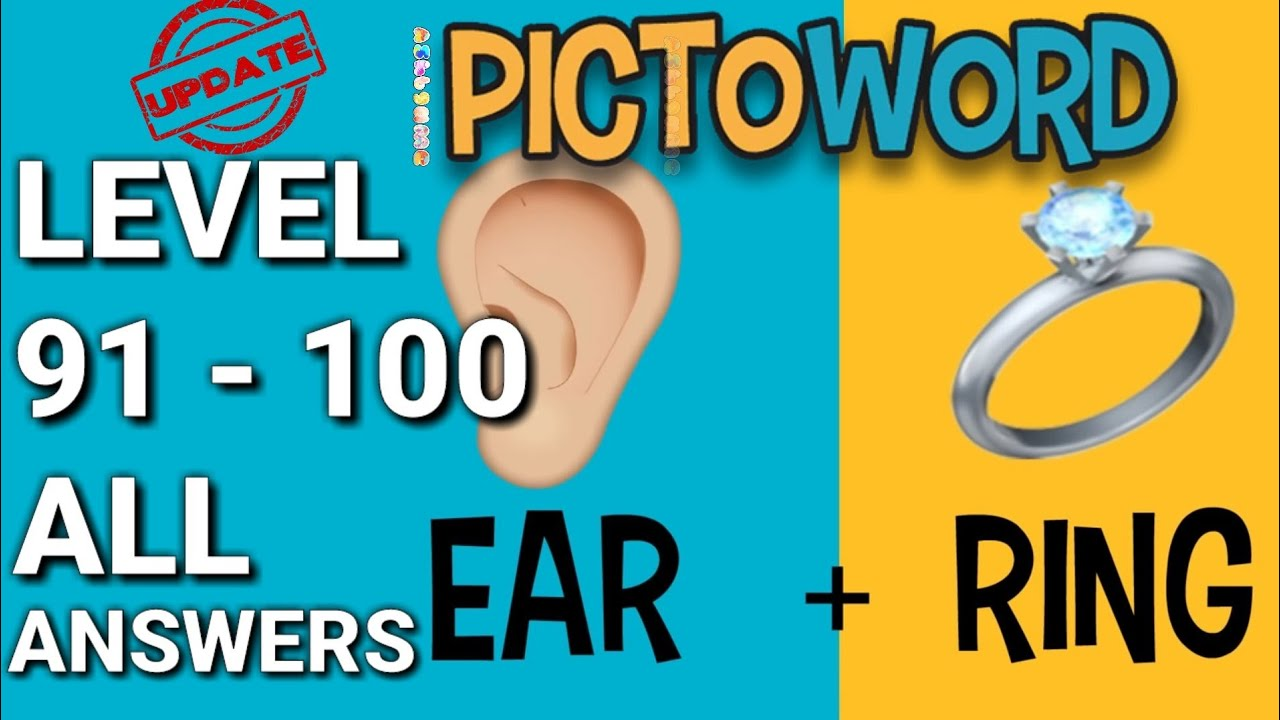 Pictoword Level 91-100 ALL ANSWERS - YouTube