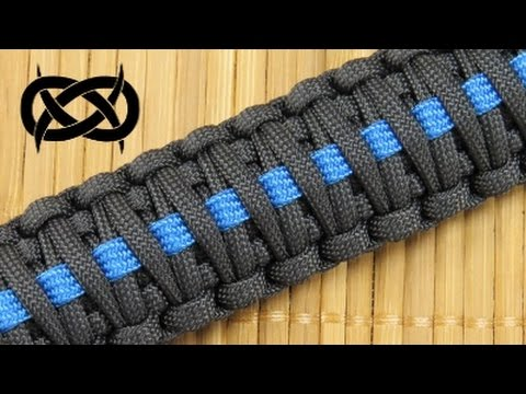 How To Make King Co Thin Blue Line Paracord Celet